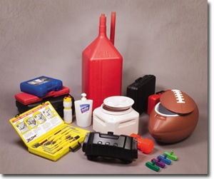 Assortment of custom plastic containers
